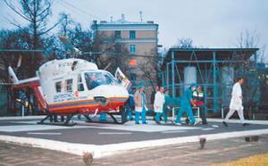 В Москву раненых привозили вертолетами
